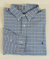 Ralph Lauren Polo Pony Buttoned Classic Plaid Long Sleeves Dress Shirt 3XB Big