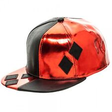 DC HARLEY QUINN DIAMONDS Faux Leather Costume Snapback Hat - NEW LICENSED