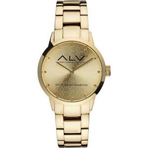 Orologio Donna ALV By Alviero Martini ALV0002 Bracciale Acciaio Gold Dorato NEW