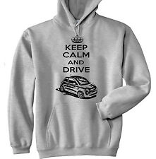 FIAT 500 2008 KEEP CALM AND DRIVE P - GREY HOODIE - ALL SIZES IN STOCK