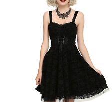 NWT DISNEY NIGHTMARE BEFORE CHRISTMAS DRESS BLACK FLOCKED FILIGREE PRINT XL