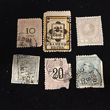 1873-92 Surinam Postage Stamps Used Lot of 6