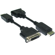 0.15m DisplayPort Male To DVI-I Female Adapter/Converter Cable Socket Monitor PC