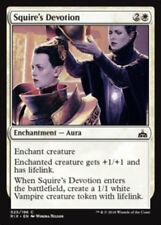 4 x Squire's Devotion * Rivals of Ixalan * MtG * Common * PLAYSET