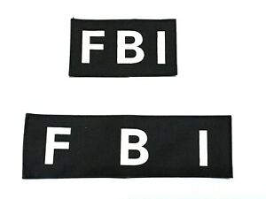 New FBI Chest & Back Patches With Hook Back Black--Airsoft