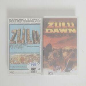 Zulu & Zulu Dawn VHS Movie Video Free Postage PAL AUS 2 x Bundle
