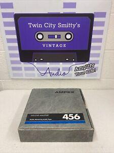 "AMPEX 456 GRAND MASTER 2"" x 2500' STUDIO RECORDING TAPE NAB HUB 10.5"" METAL REEL"