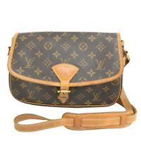 Louis Vuitton Sologne M42250 Monogram Shoulder Crossbody Bag Brown Gold France