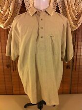 Mens GREG NORMAN COLLECTION XL Extra Large Lite Khaki Tan Linen Blend EUC