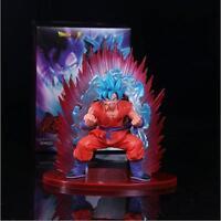 Anime Dragon Ball Super Saiyan Blue Hair Son Goku Statue PVC Figure Model Doll