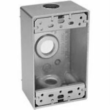 BWF M. Stephens DB-75V Deep One Gang Weatherproof Outlet Box 3 Threaded 3/4 Hole