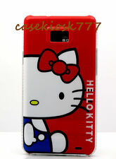 for samsung galaxy s2 case red white blue kitty kitten for i9100 and i777 model
