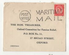 Maritime Mail Postmark 1960s Cover to Oxfam Treasurer 103c