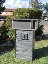 Blue Stone Letterbox 720mm H, 2 key Lock Strong Tough unit.