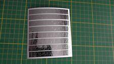 52 Buchstaben und 20 chrome  Klebezahlen 0,8 cm Hoch  kontour geschitten NEU