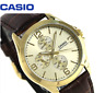 Casio Men's Standard MTP-V301GL-9A Fashion Brown Leather Dress Analog Watch New