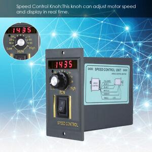 400W 50Hz Digital Adjustable Controls Stepless Motor Speed Controller 0-1450rpm.