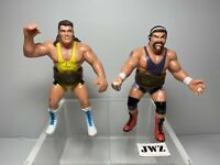 WCW galoob 1990 Rick And Scott Steiner Brothers WWE/WWF Hasbro,With belts (rare)