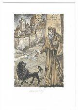 """BOHUMIL KRATKY: Exlibris für Max Geitel, """"Faust und Pudel"""""""