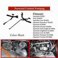 Black Foot Peg Forward Control Kit For Harley Sportster Custom XL1200C 2004-2013