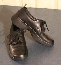 NaturalSport Dynamic Women Walking waitress Shoe Leather Size 6.5M Black 81556-0