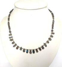 Echtschmuck-Halsketten & -Anhänger im Collier-Stil aus Sterlingsilber mit Labradorit
