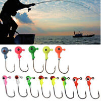 5/50 pcs Sharp Barb Hook Fishing Round Shape Ball Lead Jig Head Hooks Accessory