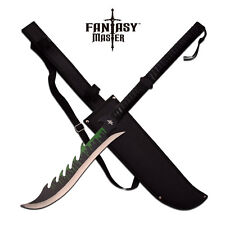 SHORT SWORD Fantasy Master Black Two-Hand Green Ninja Blade Dragon Sheath FM-670