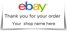 130 Personalised ebay Logo Labels Stickers Thank you for your, on avery L7651