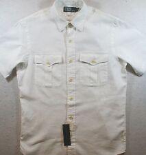 Polo Ralph Lauren Chest Pockets Linen Cotton Shirt SIZE SMALL S NWT $90