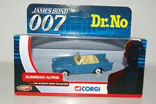 CORGI TY02501 JAMES BOND 007 SUNBEAM ALPINE MIB RARE SELTEN
