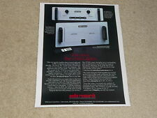 Audio Research VT100 Tube Amplifier Ad, LS15 Tube Preamp, Article, 1 Page, 1997