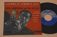 ARMSTRONG EP SATCHMO AT SYMPHONY HALL-TOP JAZZ 1°ST ITALY '60 OTTIME CONDIZIONI