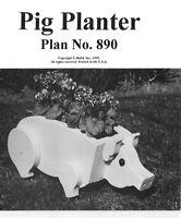 U-Bild Plan Pack To Make This Great Pig Planter PU890