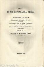 FILOSOFIA_SPINOZA_DISPUTAZIONE TRIPARTITA_VANITA' ATEOLOGICA_ROSSI_1866_IRPINIA