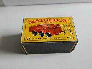 MATCHBOX 63 CRASH TENDER . EMPTY E BOX . NEW MODEL BOX VGC !!