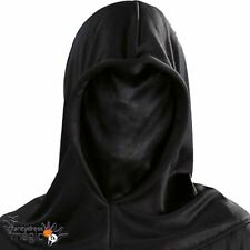 *Halloween Black Phantom Grim Reaper Executioner Invisible Hooded Costume Mask*