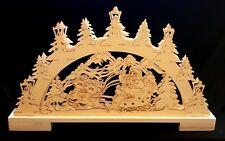 3D Holz Lichterbogen Schwibbogen Winterlandschaft Weihnachten Weihnachtsdeko NEU