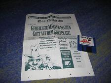 LUCASARTS Adventures Zak Mc Kracken seltene Zeitschrift und Spiel Sammler PC