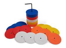 Uber Soccer Mini Flat Spot Markers (Orange, White, Yellow, Red, Blue) - 50 pack