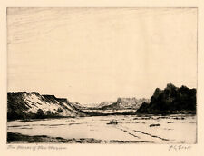 ALBERT GROLL, 'THE MESAS OF NEW MEXICO', signed etching, c. 1910.