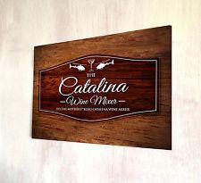 La Catalina Wine mixer effetto legno A4 Segno Metallo Placca Decor