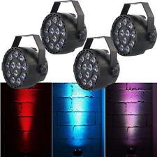 4 Stk LED RGBW Par Licht DMX512 Bühnenbeleuchtung Show Party DJ Disco BRANDNEU