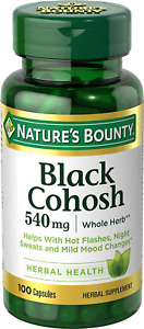 Nature's Bounty Black Cohosh Root Pills and Herbal Health Supplement, Natural