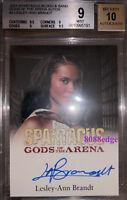"""2012 SPARTACUS GODS OF ARENA AUTO: LESLEY-ANN BRANDT - AUTOGRAPH """"LUCIFER"""" BGS 9"""