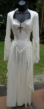 New Ivory 18th Cent Eternal Love Lady Vampire Costume w/Side Lacing & Cross  S/M