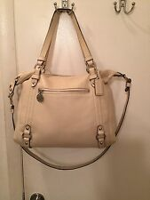Coach Alexandra Convertible Tote Satchel Large Bag Soft  Leather 17566 Pearl