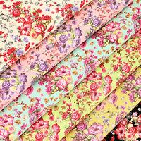 Cotton Print Fabric FQ Romantic Floral Bouquet Pixel Dot Quilting Material VK96