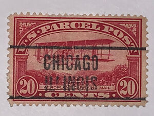 Travelstamps:1912-13 US Stamps Scott #Q8 Airplane 20 Cent Used NG parcel post