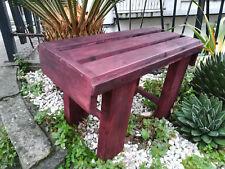BANCO madera. Largo 52 cms. Tintado color caoba